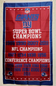 New York Giants Champions Flag 3X5 FT NFL Banner Polyester FAST SHIPPING!!!
