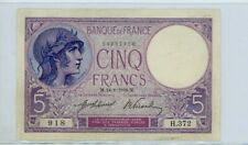 France, 5 Francs, 5 F 1918  ''Violet'', 1918, P #72a   VF  372