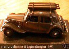 CITROEN TRACTION 11 LEGERE GAZOGENE 1941 1/43 DE GAULLE
