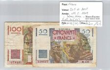 BILLET 50 ET 100 FRANCS - 19-5-1949