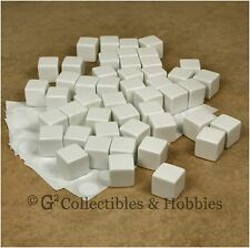 NEW Set of 48 Blank D6 Dice w/ Stickers - 16mm White - D&D RPG Game 5/8 inch D6s