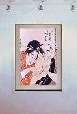 Man Getting Tattoo 15x22 Japanese Print Japan Body Art Asian Art Japan