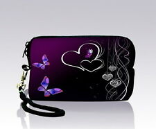 Purple Butterfly Digital Camera Case bag Pouch For Nikon Canon Samsung Kodak