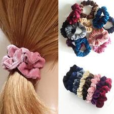 5Pcs Women Elastic Velvet Hair Rope Scrunchie Ponytail Holder Hair Accessories
