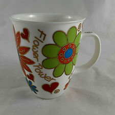 Dunoon Jane Brookshaw Bone China Coffee Mug Cup Flower Power Carnaby England