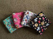 "New listing Lot of 4 JoJos Bow Nickelodeon 100% Cotton Fabric Fq 18"" x 22"" Bundle New"