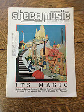 Sheet Music Magazine 1985 Back Issues Lot of 3 Piano Guitar Tablature Vintage