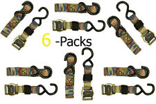 1 in. x 6 ft. Cam Buckle Strap Tie Down 900 lbs S-Hook, Kayak, Atv, Camo Strap