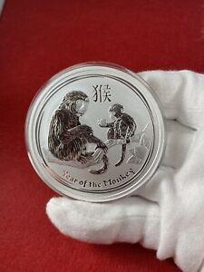 2016 Australia 5 oz Silver Lunar Monkey Perth Mint BU in capsule