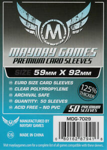 Mayday Silver Games Premium Card Sleeves Euro (59mm X 92mm) (50) 7029