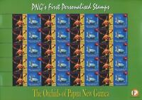 Papua New Guinea 2007 Orchids TURTLE FLAGS 3.35k MNH.Block of 20(Pap91)
