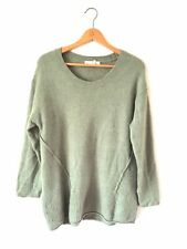 Women's H&M Size M Super Cosy Green Long Sleeve Jumper (b4)