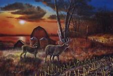 """Jim Hansel Sharing the Bounty II Deer Pheasant Print 16"""" x 12"""""""