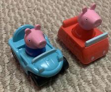 Peppa Pig Play Mat Replacement Cars George & Peppa Car Toys Girl Boy EUC