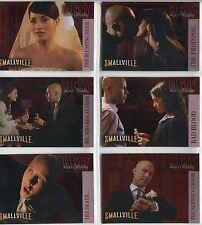 Smallville Season 2 Complete Till Death Do Us Part Chase Card Set DP1-6