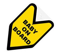 ## JDM WAKABA BADGE BABY ON BOARD Car Decal Flag not vinyl sticker ##
