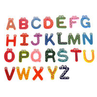 26pcs Novelty Letter Wooden Fridge Magnet Sticker Cute Funny Refrigerator