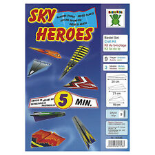Sky Heroes Craft Easy Craft Kit to Fold and Fly 9 Paper Planes