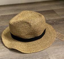 J Crew Straw Hat Lurex Metalic S/M