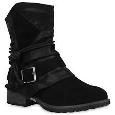 Damen Biker Boots Warm Gefütterte Stiefeletten Stiefel  Schuhe 832548 Schuhe