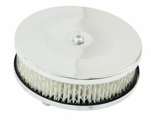 """EMPI Bug 5-1/2"""" 2-1/2"""" Tall, Chrome Air Cleaner 2"""" Neck, w/Paper Element 9183"""