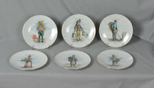 Bareuther Waldsassen Bavaria Germany Metiers Du Vieux Paris Plates - Set of 6