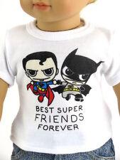 Super Heroes T Shirt Made For 18 Inch American Girl Boy Dolls Batman Superman