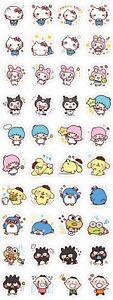 Sanrio Characters Hello Kitty Tabo Stars Vinyl Laptop Car Stickers Sheet 40 PCS