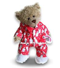 More details for teddy bear clothes fits build a bear teddy's red sheep pj's pyjamas + slippers
