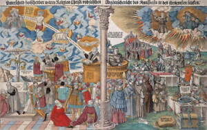 Lucas Cranach the Younger Protestantism and Catholicism Giclee Canvas Print