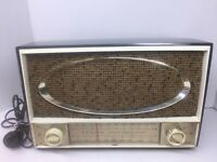Vintage zenith automatic frequency control tube radio Works Gold / Brown 1-30-59