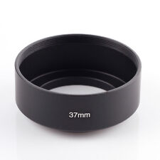 37mm Thread Mount Metal Lens Hood For Nikon Canon Olympus Panasonic Black