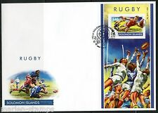 SOLOMON ISLANDS  2015 RUGBY SOUVENIR SHEET  FIRST DAY COVER