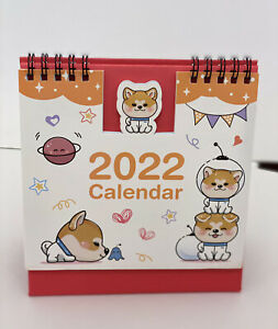 Kawaii shiba inu Corgi puppy dog 21-2022 home office desktop Calendar gift Xmas
