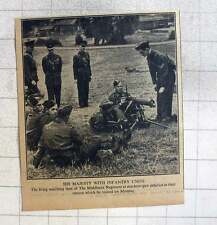 1940 The King Watching Men Of The Middlesex Regiment At Machine-gun Practice