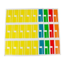 10stik Farbig selbstklebend Etiketten Webetiketten label farbige A4 Tag Marker