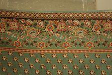Antique French Fichu Scarf block printed cotton  c 1800 -1820 Neckerchief