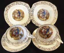 2 Bone China Cries Of London Buy My Lavender Trio Side Cake Plate Cup Saucer VGC