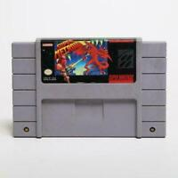 Super Metroid Nintendo SNES Game Cartridge US English Version Save In Battery US