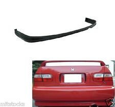 92-95 CIVIC 2/4 DR TYPE-R PU POLY URETHANE BLACK ADD-ON REAR BUMPER LIP SPOILER