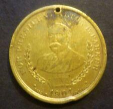 1904 Theodore Roosevelt Election Flip Coin Alvin Parker Unique Token Necklace