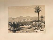 Valencia, San Miguel convento . George Vivian, litografia original.Londres 1838