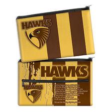 Hawthorn Hawks AFL Pencil Case School Work stationary QUALITY LARGE Gift