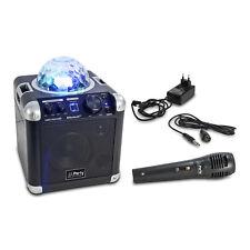 PARTY-ROCKER Mobile Sound Anlage Bluetooth LED Licht Mikrofon Echo NEU