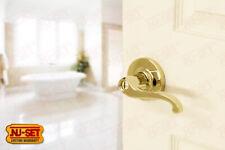 Commercial Grade 2 Bathroom Bedroom Privacy Lever Lock Lifetime Brass PVD