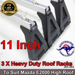 3 X Aluminium Heavy Duty Roof Racks For Mazda E1800/E2000 1985-2005 High Roof