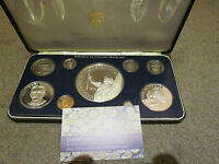 PANAMA 1978 9 COIN PROOF SET WITH 20 BALBOA ( 5,7oz SILVER ) - complete