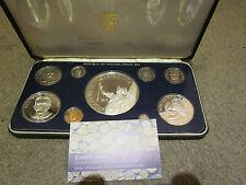 Panamá 1978 9 Moneda Proof Set Con 20 Balboa (5,7 Oz Silver) - Completa