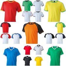 Basic T-Shit Camiseta Contraste Raglán V-Neck Blanko Fútbol Balonmano Sport