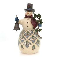 """117689 Jim Shore 31/"""" /""""Winter Roost/"""" Large Snowman with Birdhouse 2004"""
